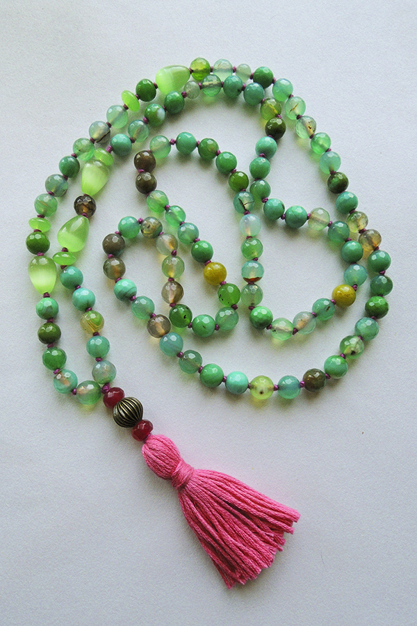 Faceted Agate Mala Beads