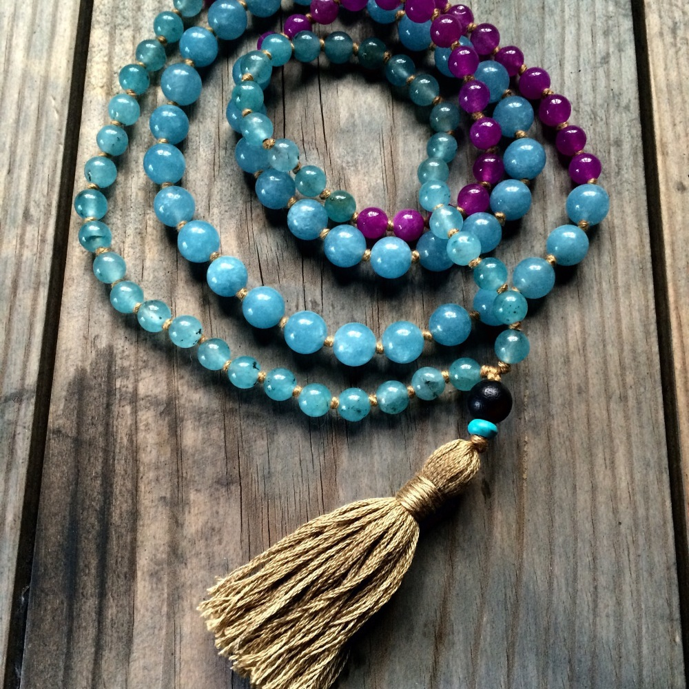 Aventurine and Agate Mala Beads