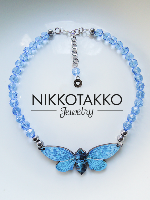 Blue Moth and Glass Beads