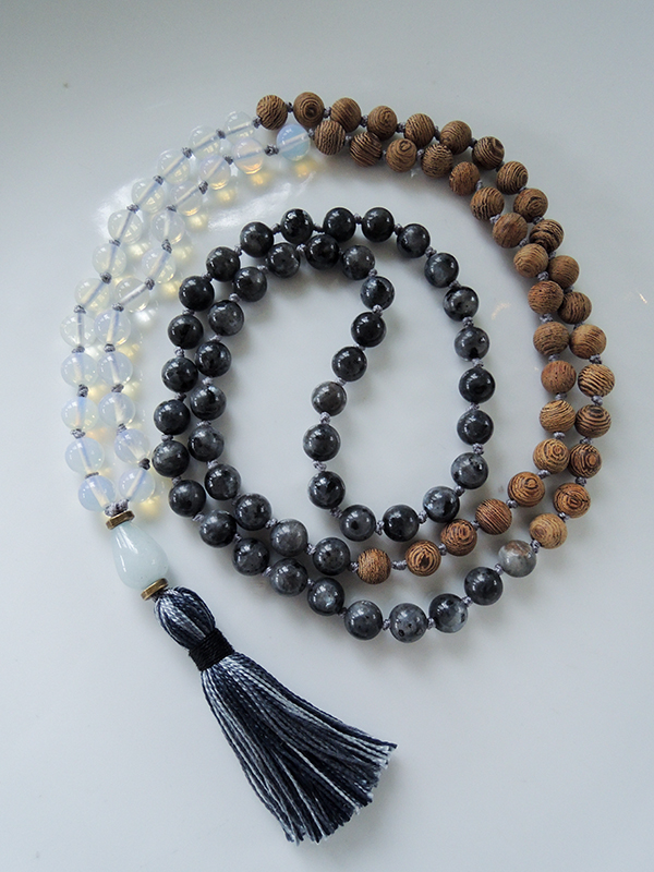 Opalite and Norwegian Labradorite Mala Beads