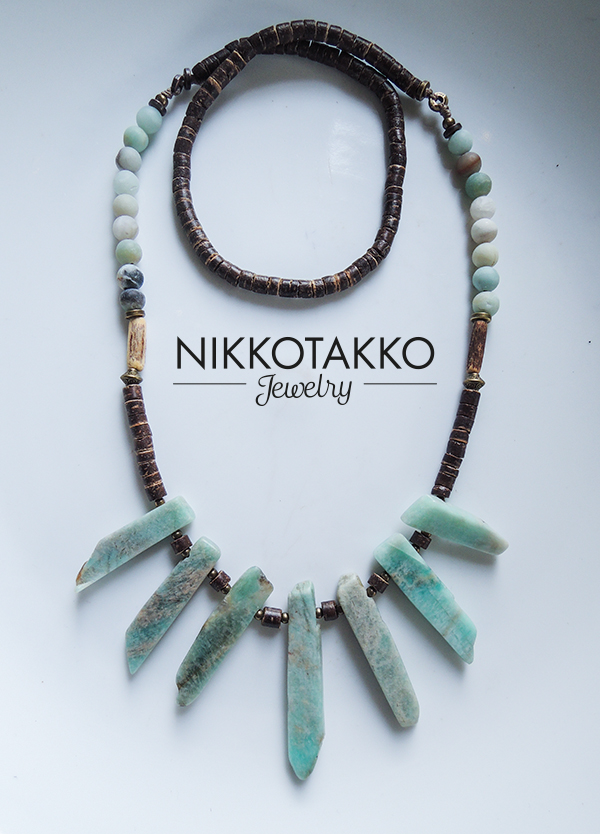 Coco and Chalcedony necklace