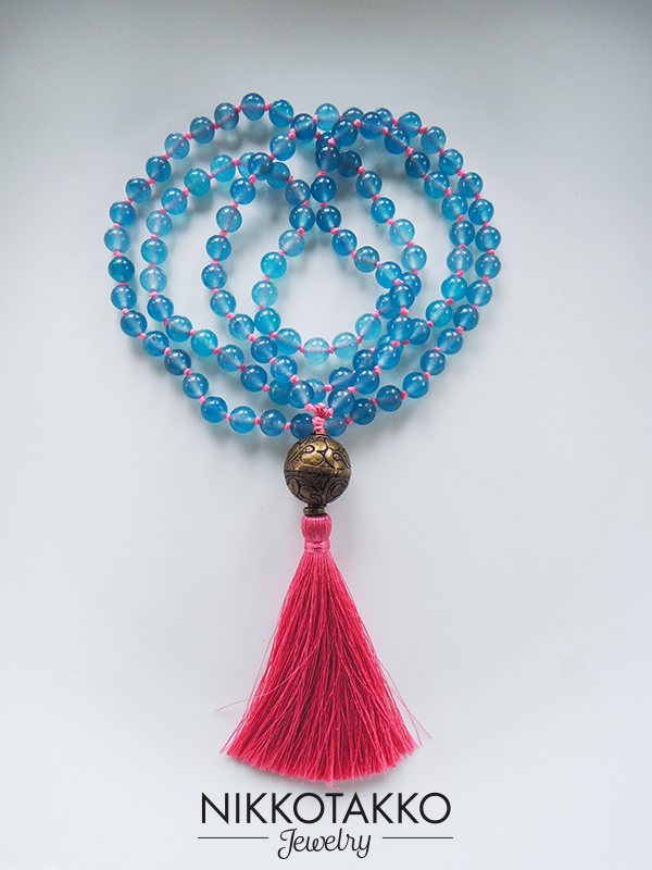 aquamarine spring mala