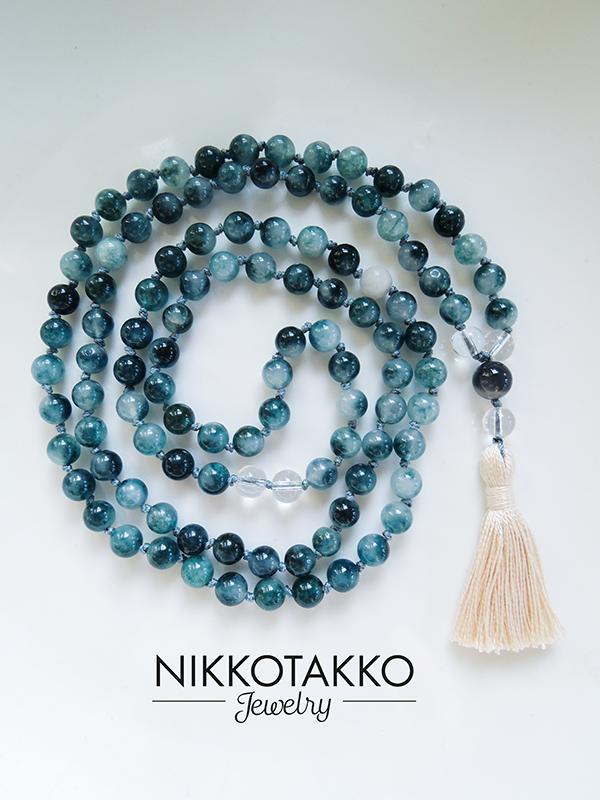 Blue Tourmaline Mala Beads