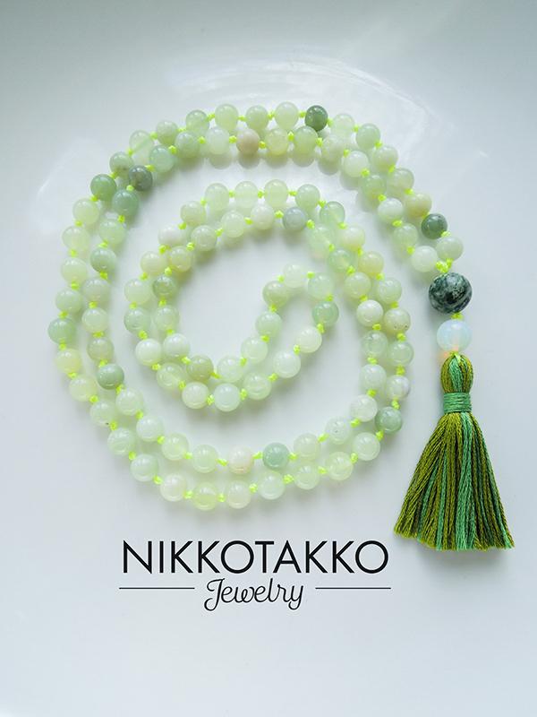 Lemon Jade Mala Beads