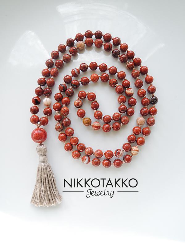 Red Jasper Mala Beads